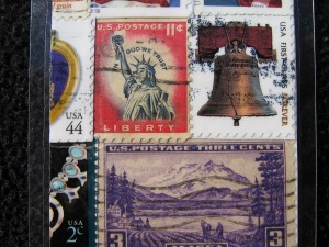 Close details of the Nevada postage stamp bookmark