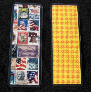One postage stamp collage bookmark with the state of Nevada